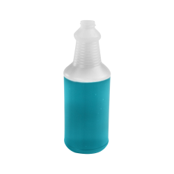 32 oz. Natural HDPE Decanter Spray Bottle with 28/410 Neck  (Sprayers or Caps Sold Separately)