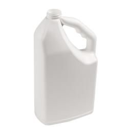 "64 oz. White HDPE ""No-Glug"" Jug (Cap Sold Separately)"