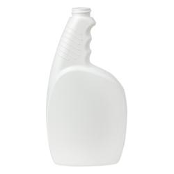 24 oz. White Pistol Grip HDPE Spray Bottle with 28/400 Neck (Sprayer or Cap Sold Separately)