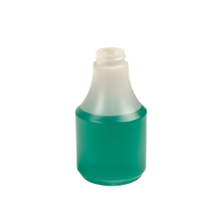 8 oz. HDPE Delta Round Spray Bottle with 28/400 Neck (Sprayer Sold Separately)