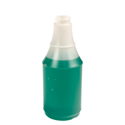 16 oz. HDPE Delta Round Spray Bottle with 28/400 Neck (Sprayer Sold Separately)