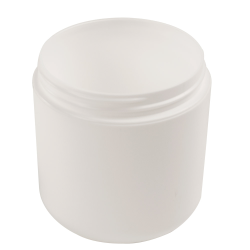 6 oz. White Polypropylene Dome Double Wall Jar with 70/400 Neck (Cap Sold Separately)