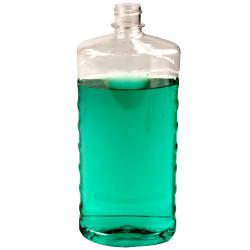 32 oz. Clear PET EZ Grip Oval Bottle with 28/410 Neck  (Cap Sold Separately)