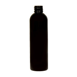 4 oz. Black PET Cosmo Round Bottle with 20/410 Neck (Cap Sold Separately)