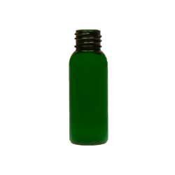 1 oz. Green PET Cosmo Round Bottle with 20/410 Neck (Cap Sold Separately)