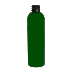 4 oz. Green PET Cosmo Round Bottle with 20/410 Neck (Cap Sold Separately)