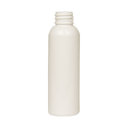 2 oz. White PET Cosmo Round Bottle with 20/410 Neck (Cap Sold Separately)