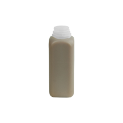 16 oz. Square HDPE Dairy Bottle with 38/400 Neck (Caps sold separately)
