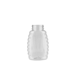 8 oz. (Honey Weight) Clear PET Queenline Bottle with 38/400 Neck  (Cap Sold Separately)