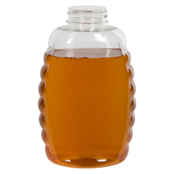 24 oz. (Honey Weight) Clear PET Queenline Bottle with 38/400 Neck  (Cap Sold Separately)