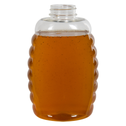 32 oz. (Honey Weight) Clear PET Queenline Bottle with 38/400 Neck  (Cap Sold Separately)