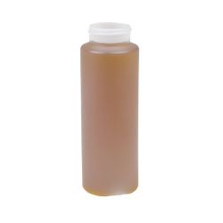 12 oz. HDPE Cylindrical Honey Bottle with 38/400 Neck  (Cap Sold Separately)