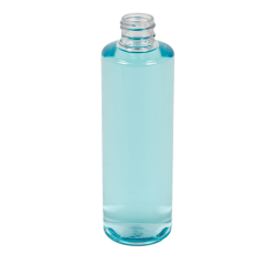 8 oz. Clear PET Cylindrical Bottle with 24/410 Neck (Caps sold separately)