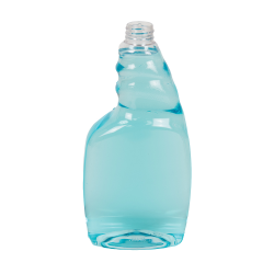 24 oz. Clear PET Oval Spray Bottle with 28/410 Neck (Sprayer Sold Separately)