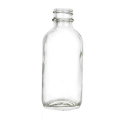 2 oz. Clear Glass Boston Round Bottle with 20/400 Neck (Cap Sold Separately)