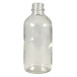 4 oz. Clear Glass Boston Round Bottle with 22/400 Neck (Cap sold separately)