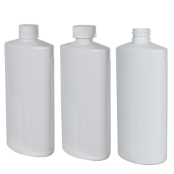 White PVC Oval Bottle