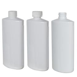 White PVC Oval Bottle