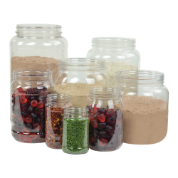 128 oz. (1 Gallon) Clear PET Jar with 110/400 Neck (Caps Sold Separately)