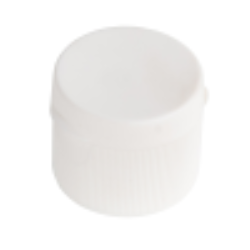"24/410 White Ribbed Snap-Top Cap with .25"" Orifice"
