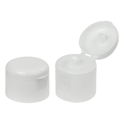 24/410 White Dome Snap-Top Cap