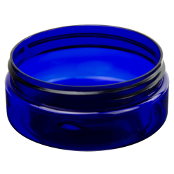 4 oz. Cobalt Blue PET Straight Sided Jar with 89/400 Neck (Cap Sold Separately)