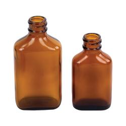 Rockefeller Century Oval Amber Glass Bottles