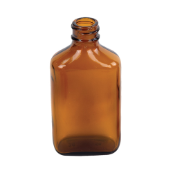 2 oz. Rockefeller Century Oval Amber Glass Bottle with 20/400 Neck  (Cap Sold Separately)