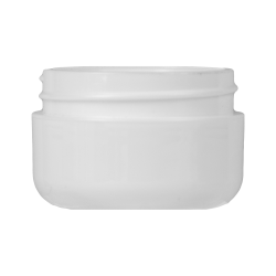 1/2 oz. White Double Wall Dome Jar with 48/400 Neck (Cap Sold Separately)