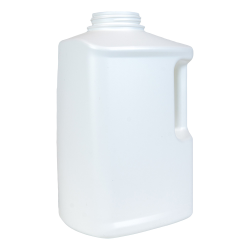 128 oz. HDPE White Drainback Bottle with 63mm Neck  (Spout & Cap Sold Separately)