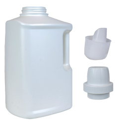 HDPE Drainback Bottle, Cap & Spout