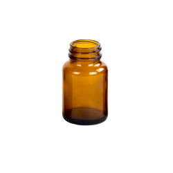 60mL Glass Wide Mouth Amber Packer with 33/400 Neck  (Cap Sold Separately)