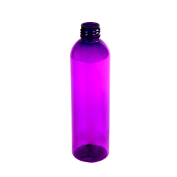 8 oz. Purple PET Cosmo Round Bottle with 24/410 Neck (Cap Sold Separately)