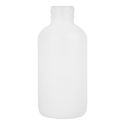 2 oz. HDPE White Boston Round Bottle with 20/410 Neck  (Cap Sold Separately)