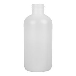 1 oz. HDPE White Boston Round Bottle with 20/410 Neck  (Cap Sold Separately)