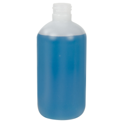 8 oz. HDPE Natural Boston Round Tall Bottle with 24/410 Neck  (Cap Sold Separately)