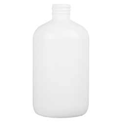 8 oz. HDPE White Boston Round Tall Bottle with 24/410 Neck  (Cap Sold Separately)