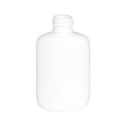 1-1/4 oz. White HDPE Oval Bottle with 18/410 Neck  (Cap Sold Separately)