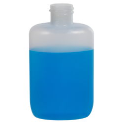 2 oz. Natural HDPE Oval Bottle with 20/410 Neck  (Cap Sold Separately)