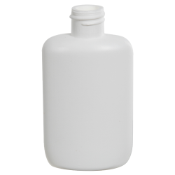 2 oz. White HDPE Oval Bottle with 20/410 Neck  (Cap Sold Separately)