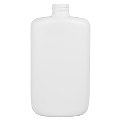 8 oz. HDPE White Oval Bottle with 24/410 Neck  (Cap Sold Separately)