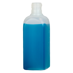 4 oz. HDPE Beveled Square Natural Bottle with 20/415 Neck  (Cap Sold Separately)