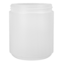 18 oz. HDPE Pedestal Jar with 89/400 Neck  (Cap Sold Separately)
