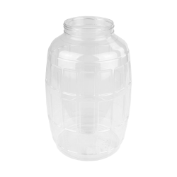 320 oz. Clear PET Barrel Jar with 120mm Neck (Lid Sold Separately)