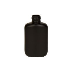 1-1/4 oz. HDPE Black Oval Bottle with 18/410 Neck  (Cap Sold Separately)