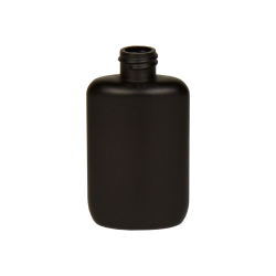 2 oz. HDPE Black Oval Bottle with 20/410 Neck  (Cap Sold Separately)