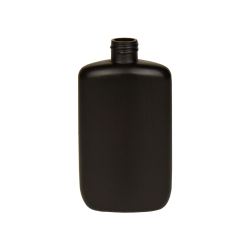 4 oz. HDPE Black Oval Bottle with 20/410 Neck  (Cap Sold Separately)