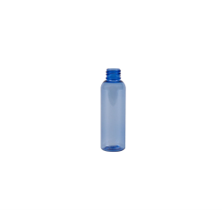 2 oz. Light Blue PET Cosmo Round Bottle with 20/410 Neck (Cap Sold Separately)