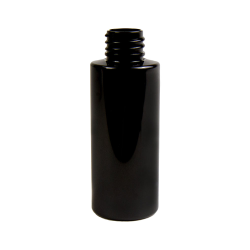 1 oz. Black PET Cylinder Bottle with 20/410 Neck  (Cap Sold Separately)