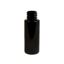 2 oz. Black PET Cylinder Bottle with 20/410 Neck (Cap Sold Separately)